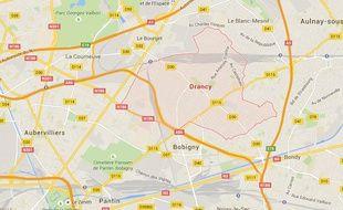 Google Maps de Drancy, en Seine-Saint-Denis.