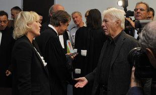 Nadine Morano et Guy Bedos se retrouvent une nouvelle fois au tribunal, jeudi, devant la chambre correctionnelle de la cour d'appel à Nancy. L'eurodéputée accuse l'humoriste de l'avoir insulté lors d'un spectacle à Toul en 2013. (Archives)