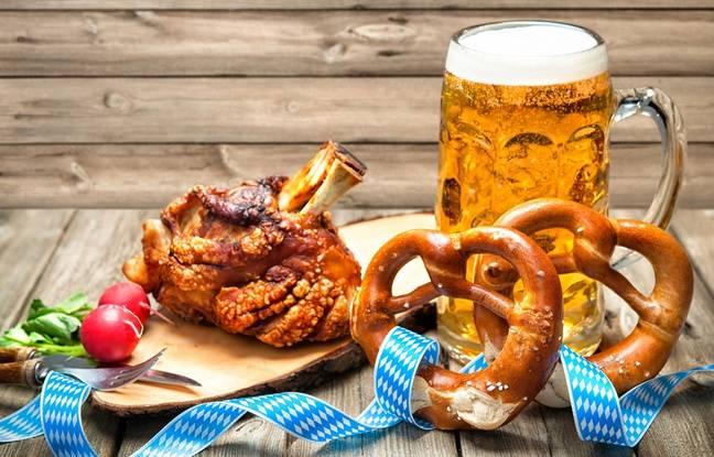Jarret de porc, bretzel et bière: c'est l'Oktoberfest
