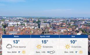 Météo Strasbourg: Prévisions du jeudi 29 avril 2021