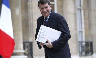 Xavier Darcos, ministre du Travail le 15 février 2010 à l'Elysée à Paris.
