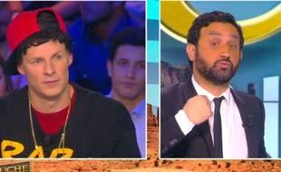 Cyril Hanouna et Matthieu Delormeau sur le plateau de Touche pas à mon poste le 1er février 2016