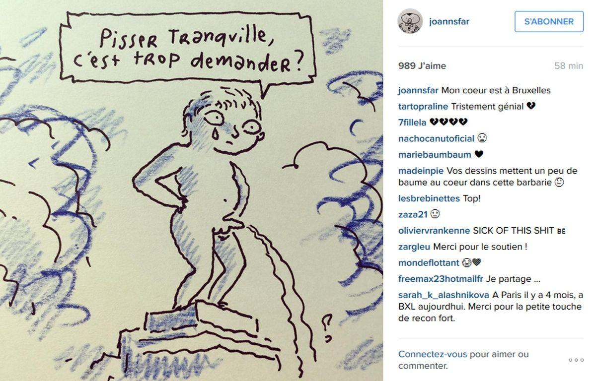 Les dessins du dessinateur de BD Joann Sfar touche aussi dans le mille.  – Joan Sfar / Instagram
