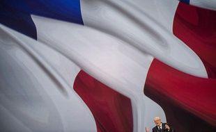 Jean-Marie Le Pen, lors de son discours au 15e congrès du Front national (FN), le 29 novembre 2014 à Lyon (Rhône).