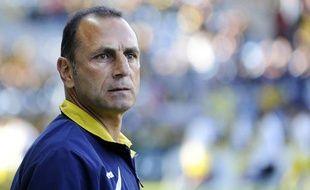 Michel Der Zakarian, entraîneur duFC Nantes, ici le 17 mai 2013 àNantes.