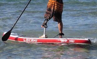 Initiation au surf et paddle pour amputés à Sanary-sur-Mer (Var) le 5 octobre 2016