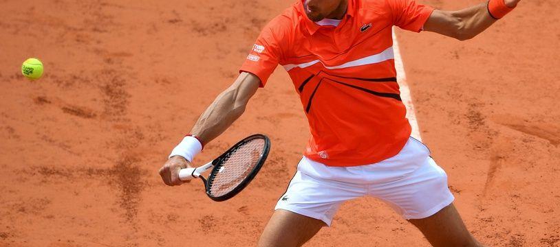 Novak Djokovic s'est repris dans le 2e set face à Dominic Thiem, en demi-finale à Roland-Garros.