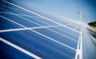 Un parc photovoltaïque dans le Lauragais.