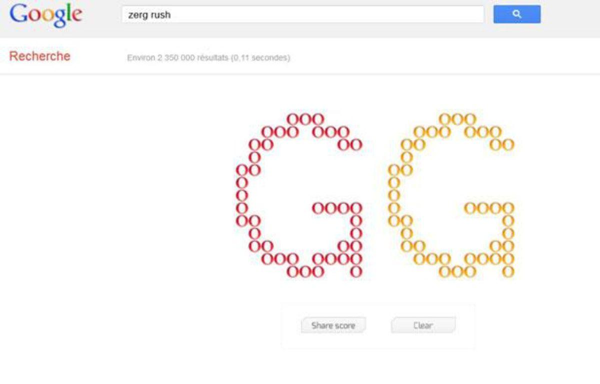 Le «zerg rush», easter egg de Google lancé le 27 avril 2012. – 20MINUTES.FR