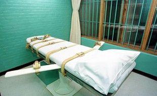 Une chambre d'exécution du pénitencier de Huntsville, au Texas, aux États-Unis.