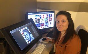 Caroline Blanchet à son bureau.