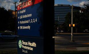 L'entrée de l'hôpital Health de Dallas, au Texas, où un patient atteint d'Ebola a été soigné.