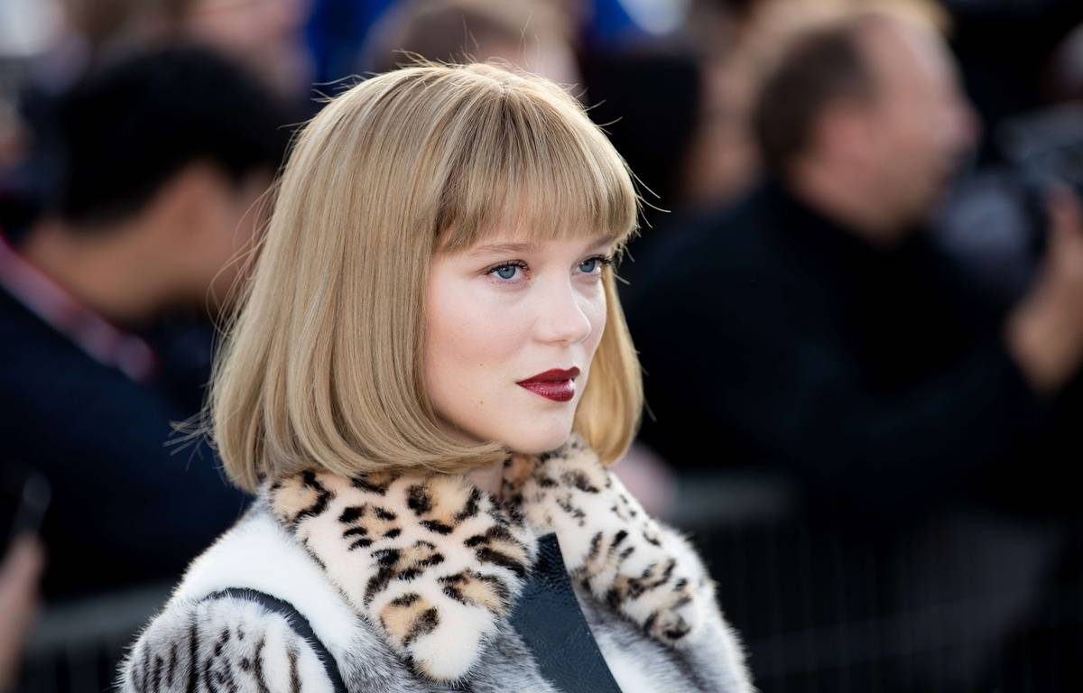 Léa Seydoux pendant la Paris Fashion Week, le 3 octobre 2017. – Yann Bohac/SIPA