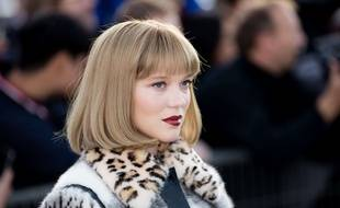 Léa Seydoux pendant la Paris Fashion Week, le 3 octobre 2017.