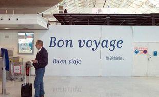 Un passager à l'aéroport Charles-de-Gaulle à Roissy le 11 juin 2013
