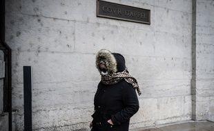 Cécile Bourgeon, la mère de Fiona, à son arrivée au palais de justice de Lyon.