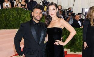 Le rappeur The Weeknd et la top Bella Hadid