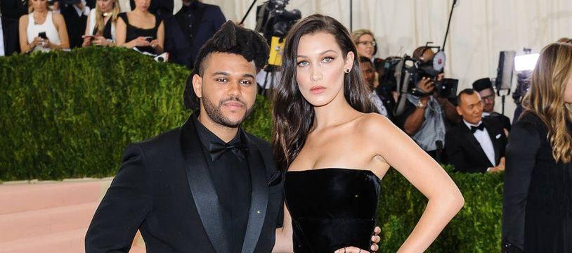 Le chanteur The Weeknd et le top Bella Hadid.