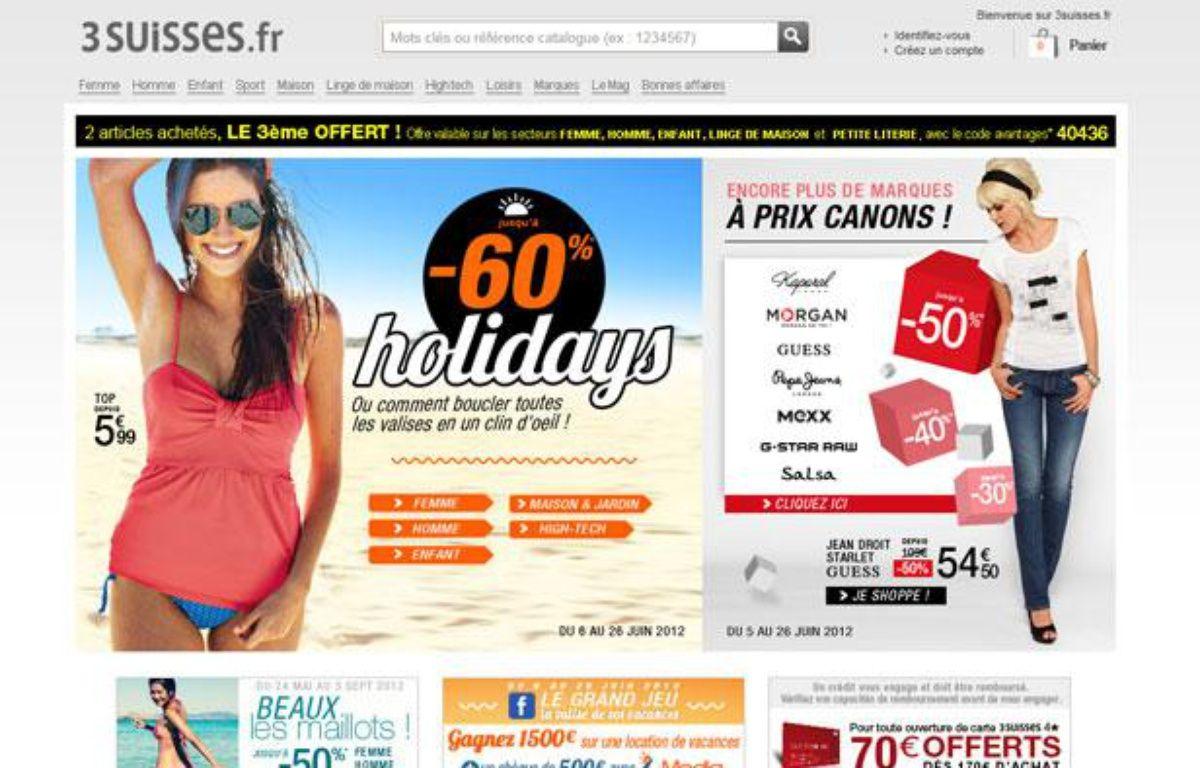 Capture d'écran du site Internet des 3 Suisses, le 12 juin 2012. – 20minutes.fr