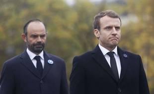 Edouard Philippe et Emmanuel Macron, le 11 novembre 2017 à Paris.
