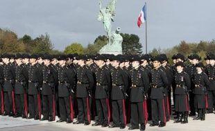 Des étudiants de l'Ecole Polytechnique le 17 octobre 2009, à Palaiseau près de Paris
