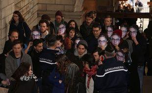 Paris, Procès du groupe de Tarnac, Julien Coupat et Yildune Levy sont poursuivi pour une opération dégradation sur les lignes TVG dans la nuit du 7-8 novembre 2008 a Dhuisi en Seine-et-Marne. France le 13 mars 2018.