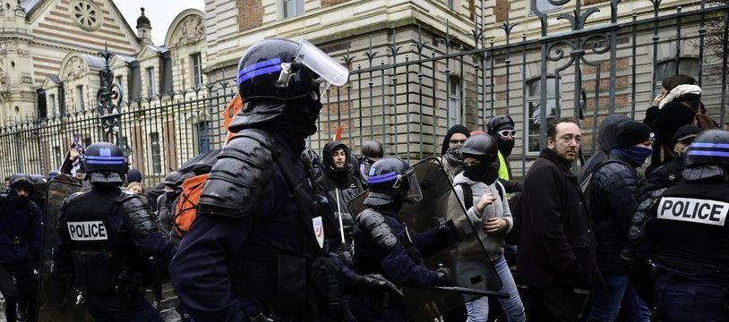 Manifestation contre la réforme des retraites à Rennes en janvier 2020 (illustration)