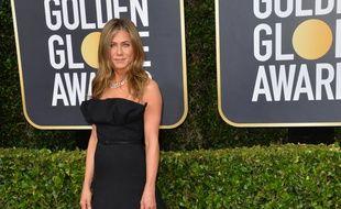 L'actrice Jennifer Aniston aux Golden Globes