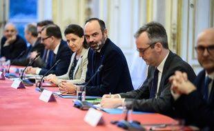 Edouard Philippe lors des négociations sur la réforme des retraites, le 19 décembre 2019.