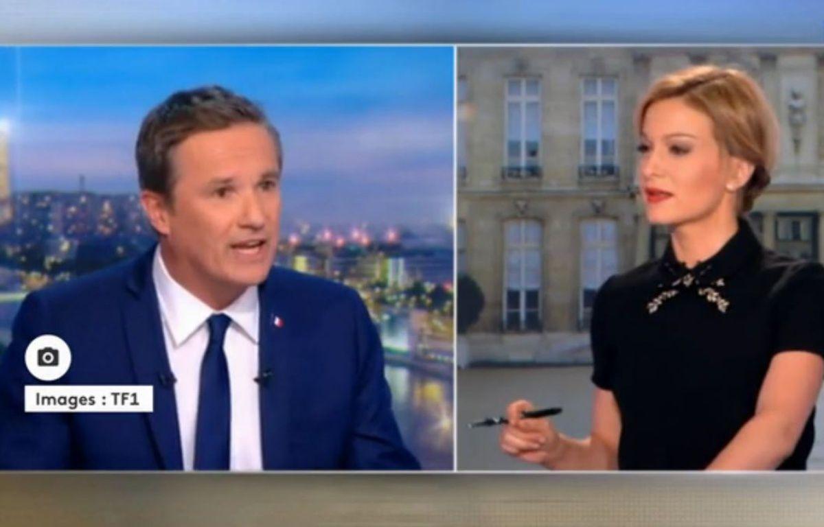 Nicolas Dupont-Aignan sur TF1, le 18 mars 2017. – TF1