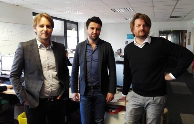 Pierre Leroy, Yann Person et Marc-Antoine Catherine, cofondateurs d'EP.