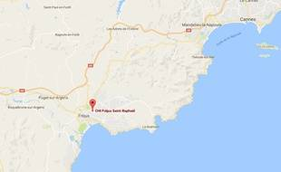 Google map de Fréjus (Var).