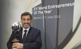 Mohed Altrad, quelques instants après avoir reçu le prix de l'entrepreneur mondial de l'année