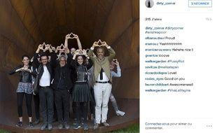 Capture d'écran du compte Instagram d'Anish Kapoor