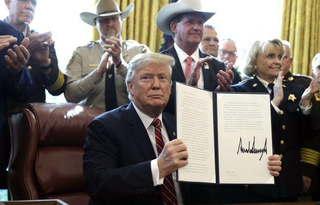 Désavoué par le Congrès, Donald Trump dégaine son premier veto pour financer le mur