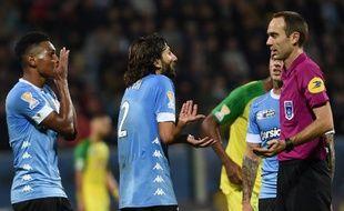 Anthony Lippini lors d'un match de Coupe de la Ligue contre Nantes.