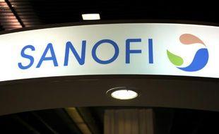 Enseigne du groupe pharmaceutique Sanofi, à Paris le 23 novembre 2012