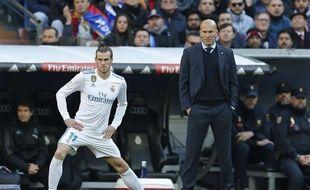 Gareth Bale et Zinédine Zidane lors de Real Madrid-Barcelone, le 23 décembre 2017.