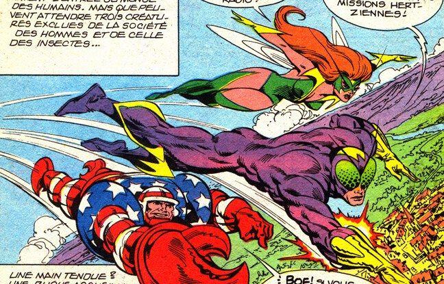 Mikros et ses copains, super-héros français publiés dans la revue « Titans » dans les années 1980