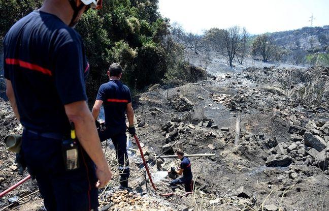 (Illustration) Après un incendie dans le sud de la France, le feu fait de nouveau des ravages dans le Gard, à Générac.