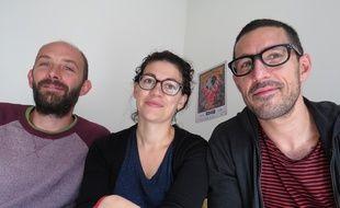 Les trois fondateurs du festival Ecollywood: Hervé Hazard (à gauche), Laetitia Couderc, et Philippe Saint-Pé.