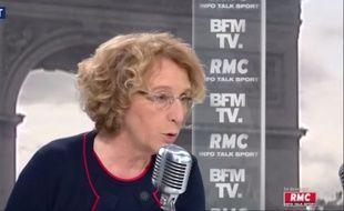 Muriel Pénicaud interrogé sur BFMTV le mercredi 13 septembre 2017.