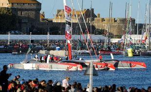 En 2014, 91 bateaux avaient pris le départ de la Route du Rhum à Saint-Malo.