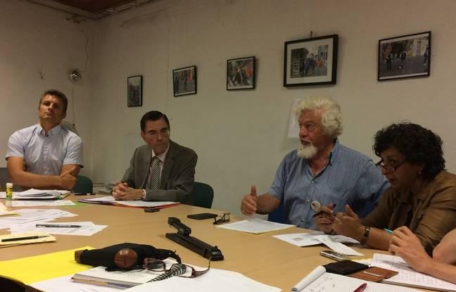 La conférence de presse commune entre la Ligue des Droits de l'Homme et l'ONG Confluence.