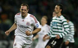 Franck Ribéry auteur d'un doublé contre le Spoting au Stade Alvalade.