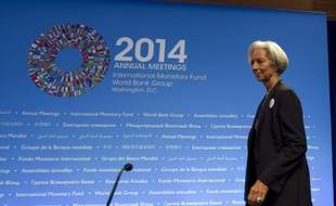 Christine Lagarde au FMI à Washington, le 11 octobre 2014.