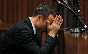 Oscar Pistorius au 3ème jour de son procès le 5 mars 2014 au tribunal à Pretoria