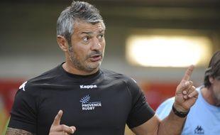 Christian Labit, entraîneur du Provence Rugby le 31 juillet 2015