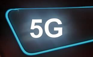 Un logo de la 5G.