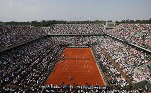 Vue aérienne de Roland Garros, en 2016.